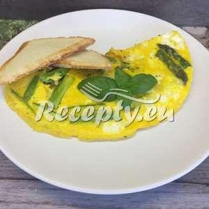 Omeleta s Zottarellou a chřestem